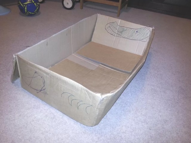 cardboard box artwork