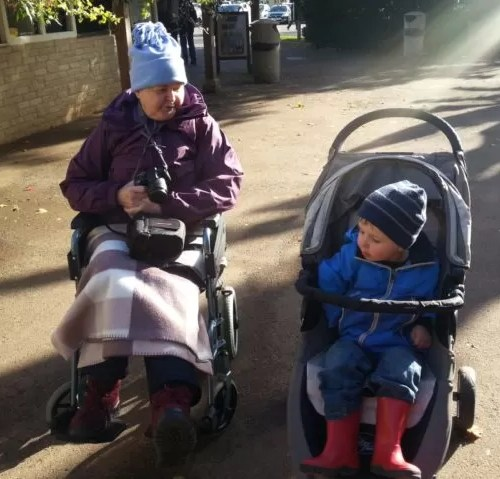 wheelchair and buggy