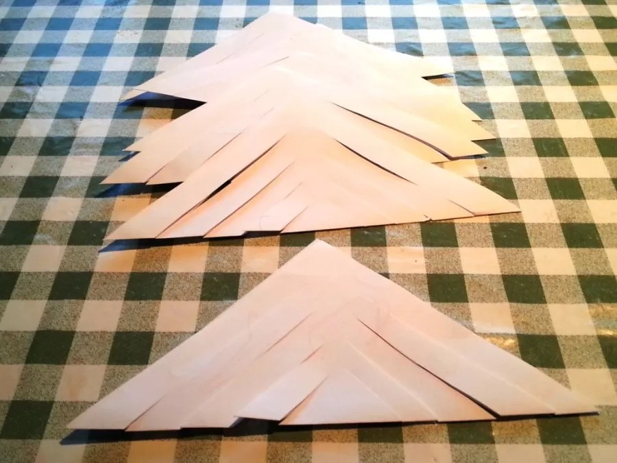 cut slashes in the folded paper