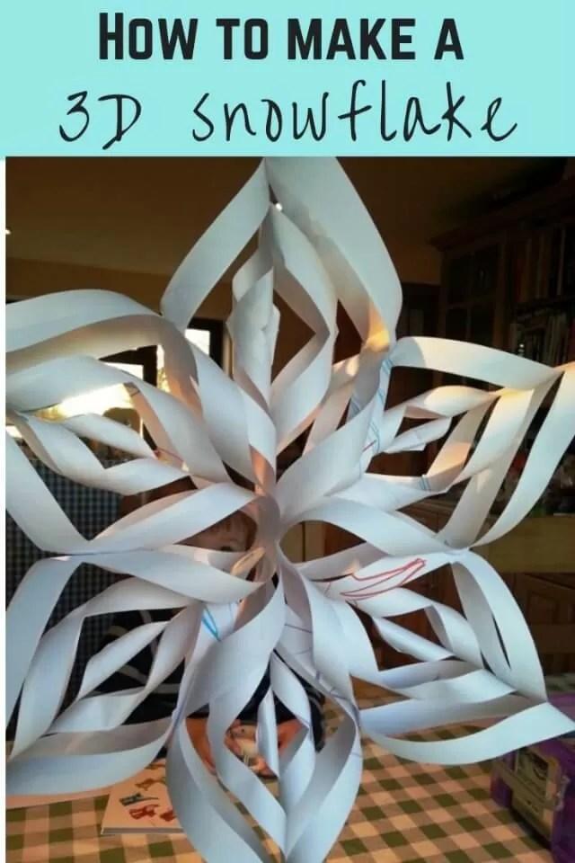 DIY 3d snowflake papercraft