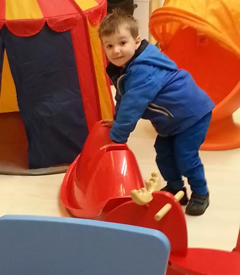 children's area at Ikea playing