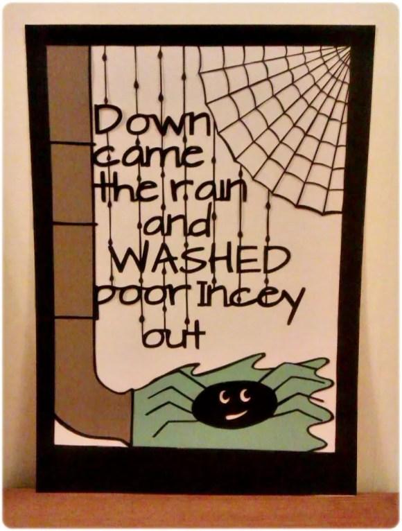 incy wincy spider papercut