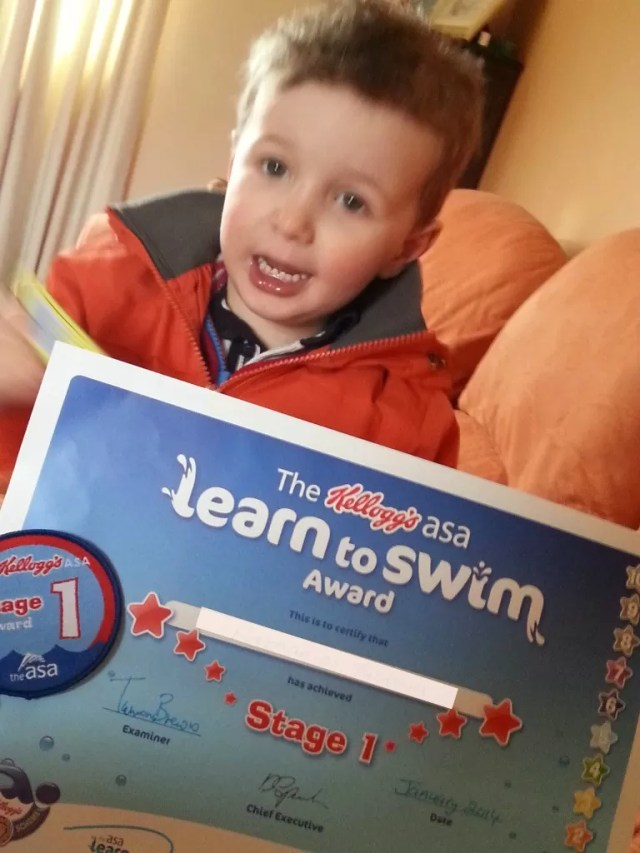 ASA swimming badge 1 toddle