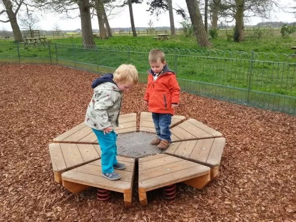 bouncy wooden play equipment