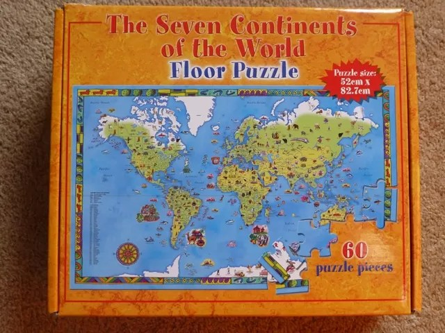 7 continents jigsaw puzzle