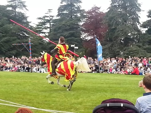 jousting knights at blenheim