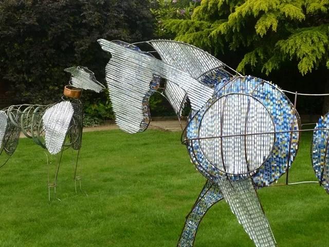 metal horse sculpture at Blenheim Palace