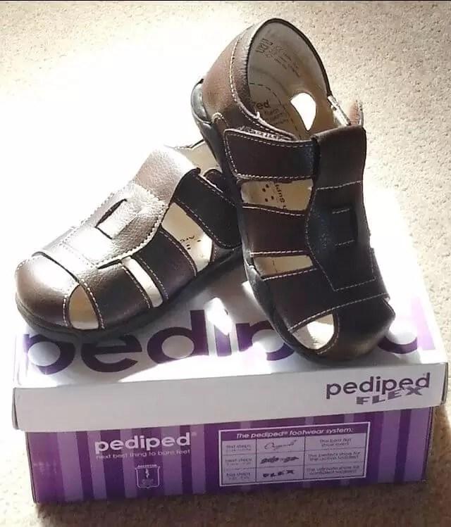 pediped sandas with box