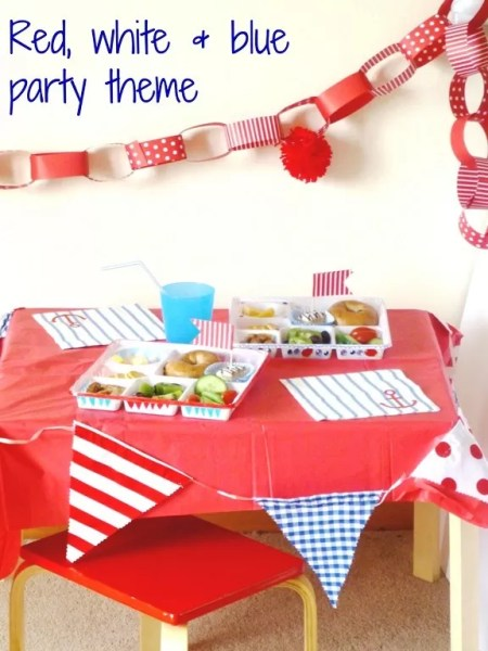 red white and blue party theme with Tiny Me #Cbias #Shop