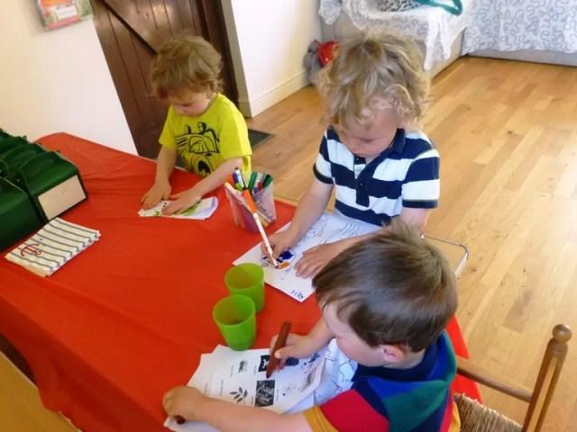 writing and activity sheets