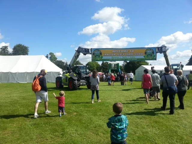 arriving at Tractor Ted farm show