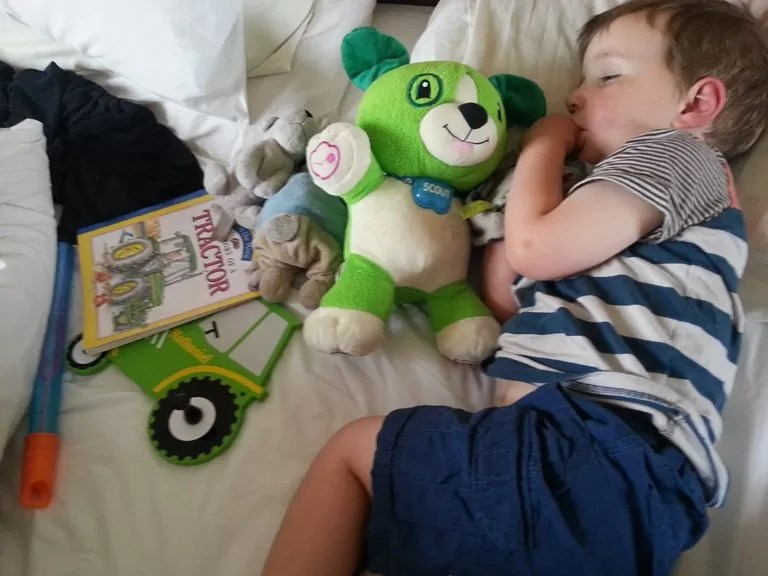 what do children take to bed - toys