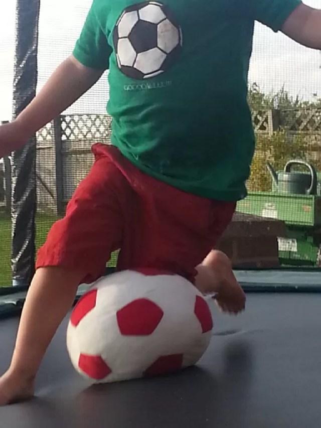 kicking ball