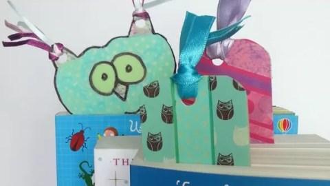 Washi tape ideas - make upcycled folder bookmarks