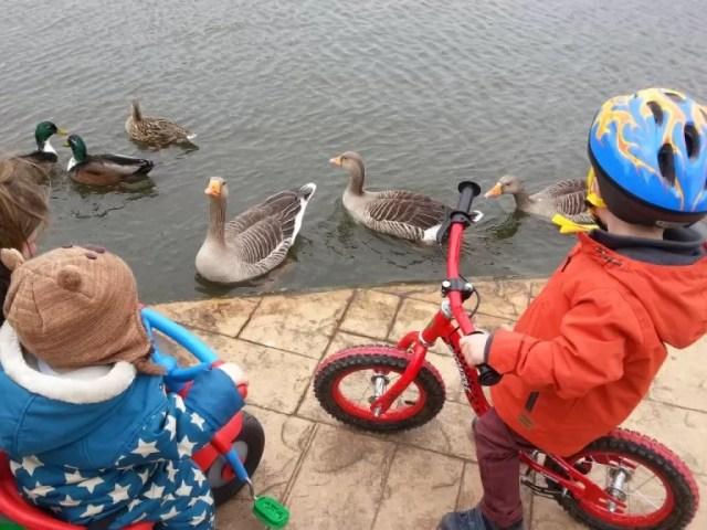 biking round the boating lake cleethorpes