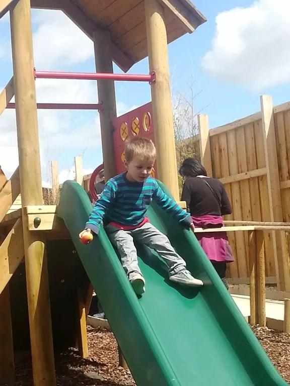 climbing frame slide