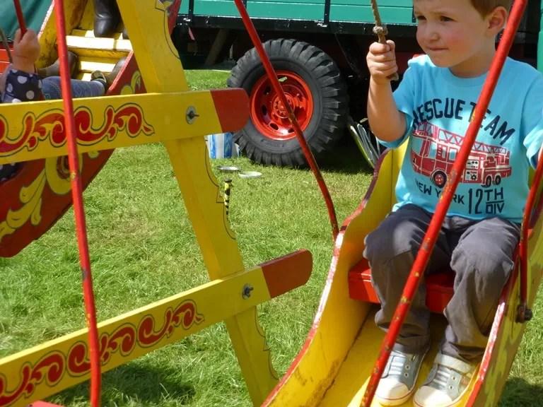 fair ground swing at treefest