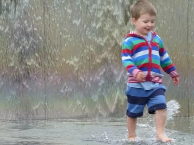 splashing in millennium square bristol