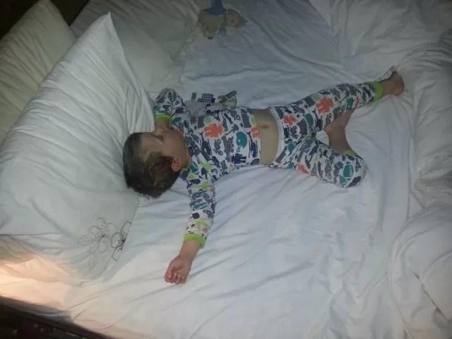 starfish sleeping child