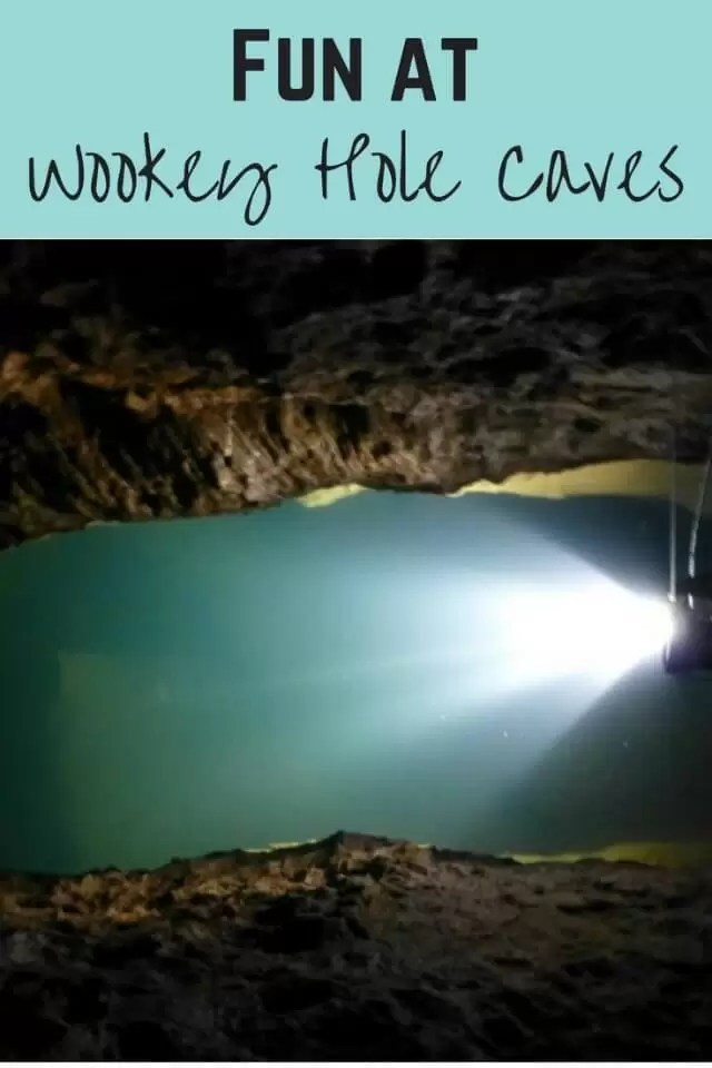 Wookey Hole caves - Bubbablue and me