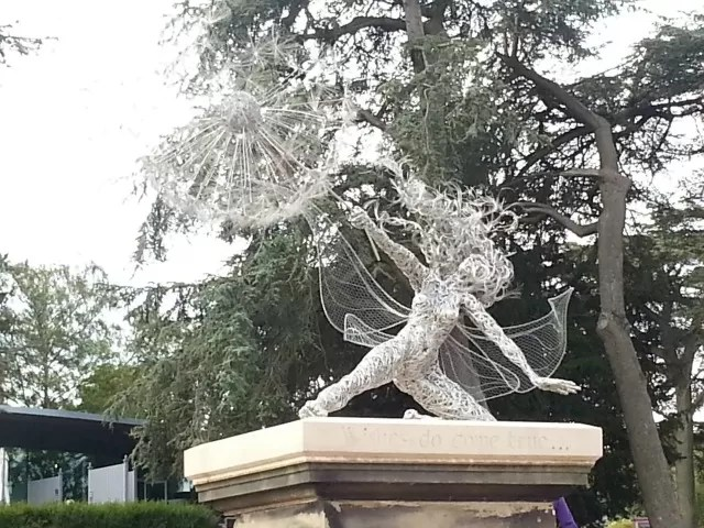 beautiful 'wishes' fairy on the trentham estate fairy trail