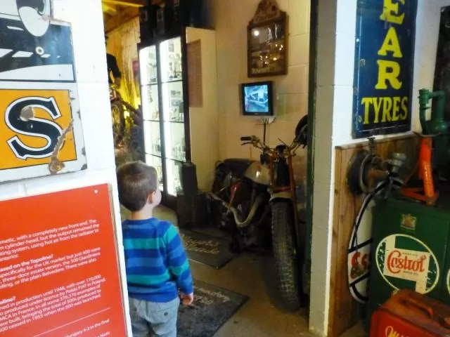 motorcycle football at cotswold motor museum