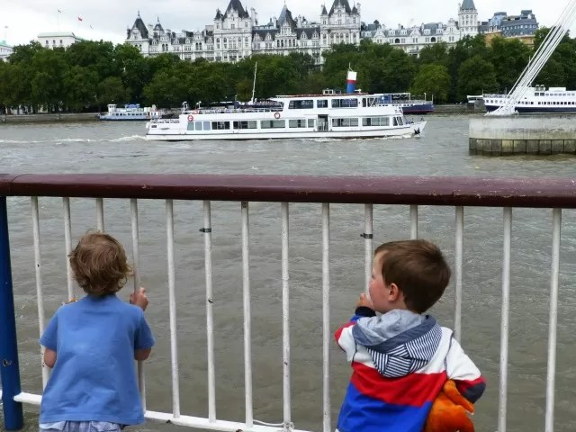 on southbank watching the boats