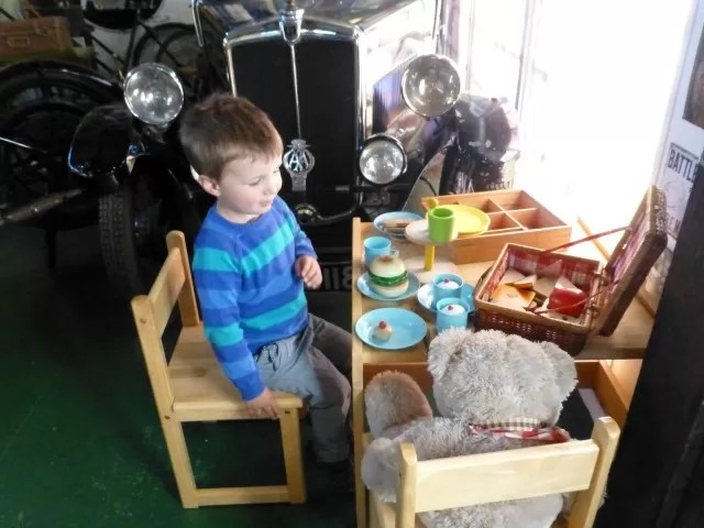 play tea at motor museum