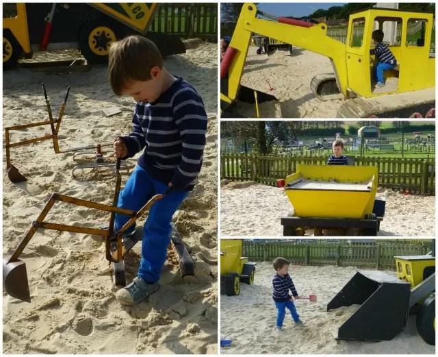 sandpit construction zone