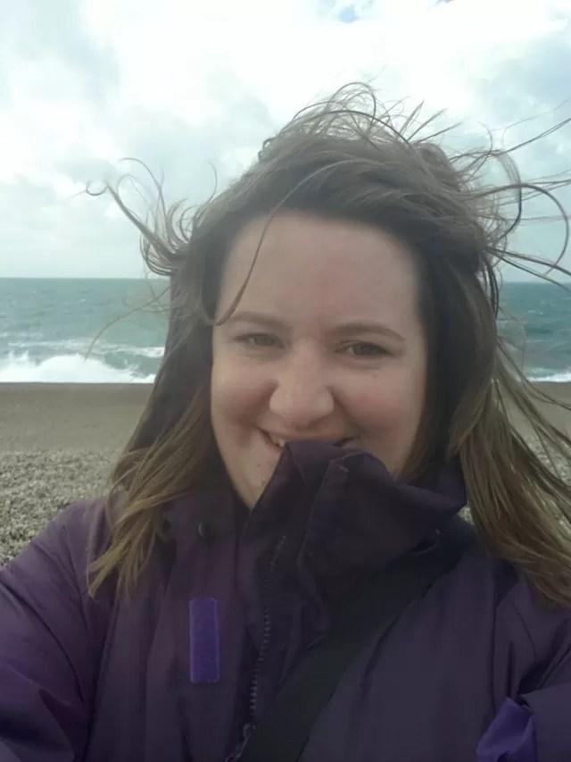 birthday girl and bad windswept hair