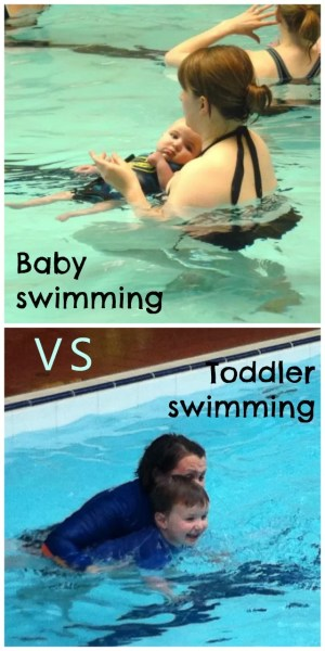 baby swimming vs toddler swimming - Bubbbalue and me