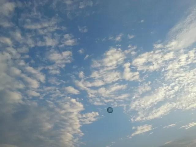 bouncy ball in the sky