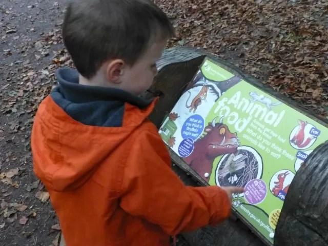 gruffalo's child trail board
