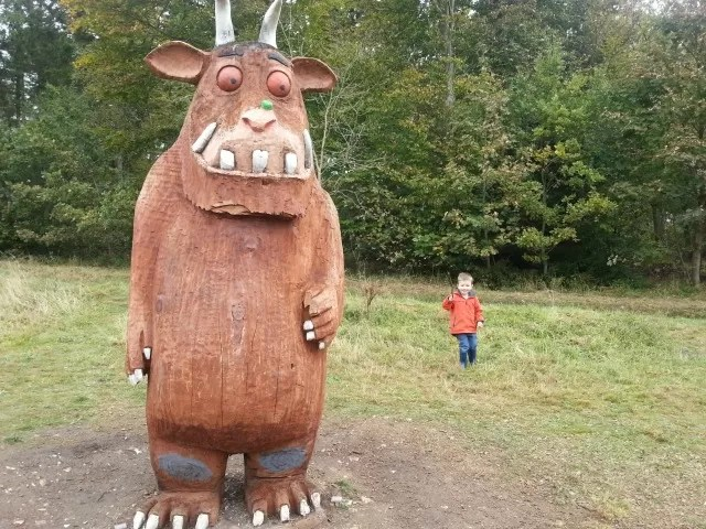 scared of the gruffalo