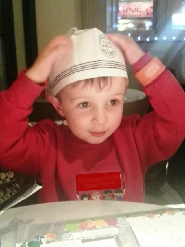 pizza express chef hat