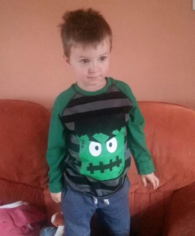 Frankenstein t shirt for halloween