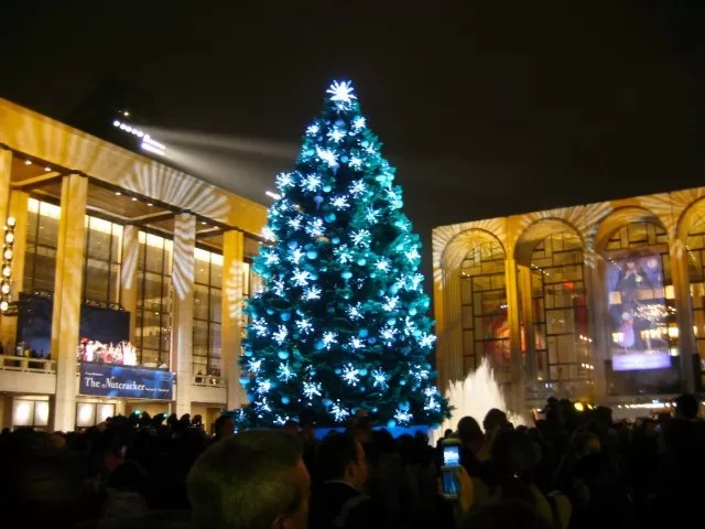 Lincoln Centre Xmas tree lighting - Bubbablue and me