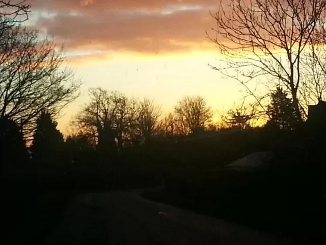 sunset over Shenington