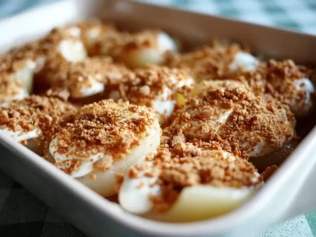 pear & almond gratin