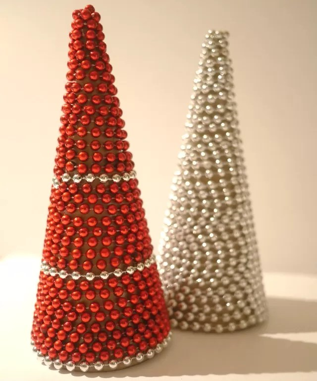 beaded christmas tree cones - Bubbablue and me
