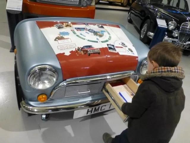 children's activity drawer - heritage motor museum