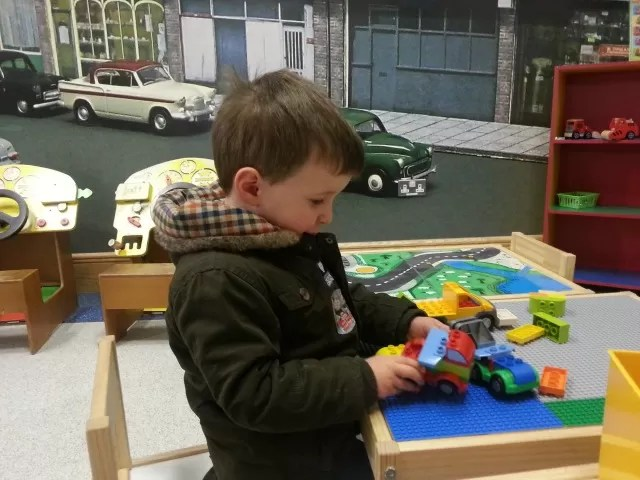 driving cars - kids area at Heritage motor museum