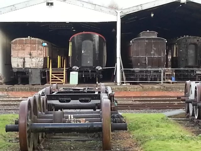 railway carriage shed