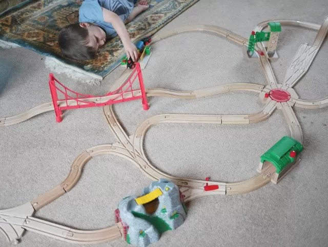 wooden railway play - Brio and Bigjigs