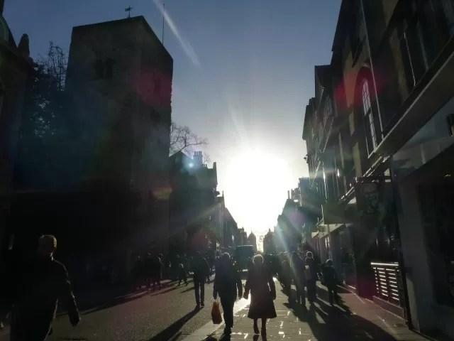 Sunny Oxford Cornmarket street