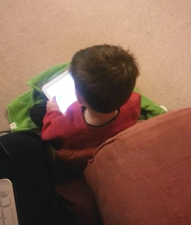 Preschooler discovering YouTube
