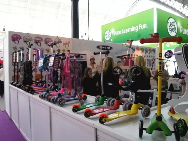 microscooters stand at toy fair 2015