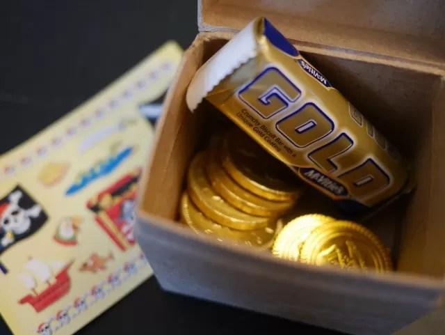 pirate treasure chest party bag idea