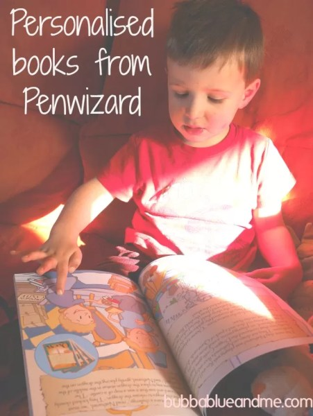 Personalised books from Penwizard - Bubbablue and me