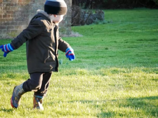 running - garden fun